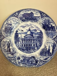 Old English Staffordshire State Plate-JH Roth &Co. 1971 Williamstown, 08094