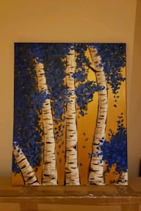blue and yellow abstract painting Mississauga, L5V 2S5