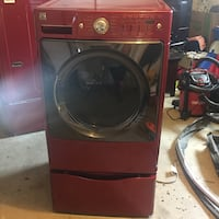 Red front loader washer and dryer Pensacola, 32526