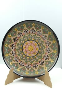 Antique Handmade  Asian large plate