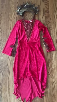 Red Devil Dress & Headpiece - Youth Size Small - 83rd & K7, XP Lenexa, 66227