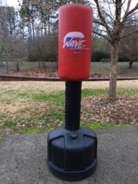 red and black Wave Master freestanding heavy bag Rome