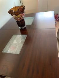 Brown wooden table with 6 chairs leaf to extend  Lake Worth, 33462
