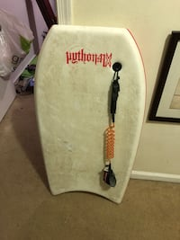 white and black surfboard with traction pad Virginia Beach, 23453