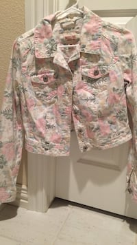white and pink floral button-up jacket Littleton, 80126