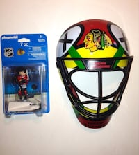 NHL Chicago Blackhawks Fan Mask And Playmobil Player London