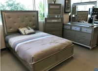 Brand New!☆Lila Champaigne Color 4 Piece Bedroom Set☆39$ Down Payment Baltimore, 21230