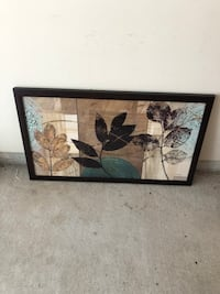 Brown wooden framed painting of flowers Houston, 77004
