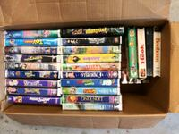 Assorted Disney vcr tapes