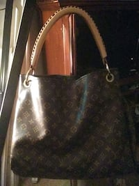 brown leather Louis Vuitton tote bag Tulsa, 74127