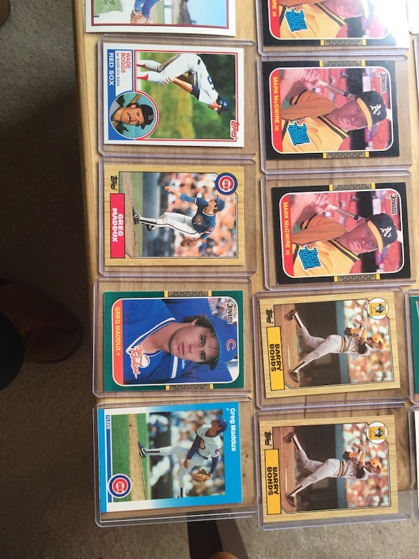 Baseball Cards All Hof Players Rookie Cards Bonds Clemens Mcgwire Ozzie Etc