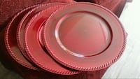 New red decorative plates or relish plates OMAHA, 68022