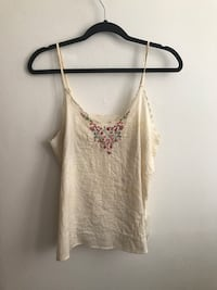 The GAP silk cami with embroidered details Montréal, H3H 1M7