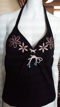 Embroidered Swimsuit top Size small