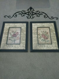 Wall Pictures with Iron scroll Bakersfield