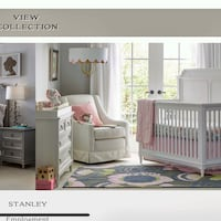 white wooden crib with changing table screenshot Richmond Hill, L4C 6B9