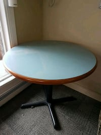 round brown and black wooden table Kelowna, V1X 4J6