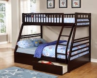 BUNK BED WITH 2 STORAGE DRAWERS