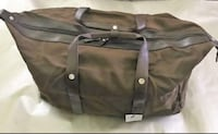 NEW- Brown Leather Weekender Duffle 220 mi