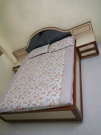 white and brown QUEEN SIZE BED wooden bed Chennai, 600079