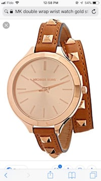 MK double wrap Rose gold watch Toronto, M4J 2P6