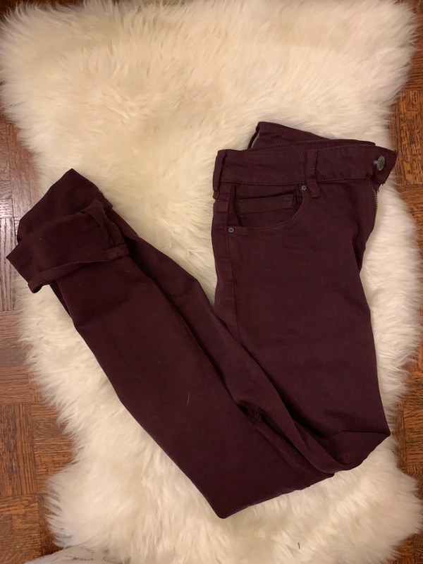 Bullhead Denim maroon coloured jeans
