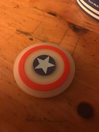 Glow in the Dark- Captain America Sheild Fidget Spinner  541 km