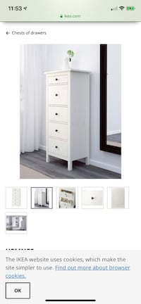 Tower drawer chest