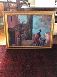 brown wooden framed painting of woman Greensboro, 27455