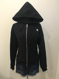 New black champion zip up size L