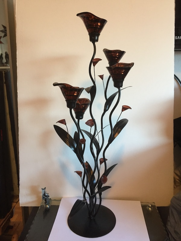 """24"""" candle flower lamp"""