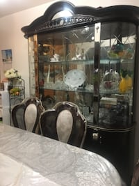 black framed glass display cabinet HAMILTON