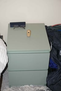 Side table with drawers (green). $25 each or $40 for both Baltimore