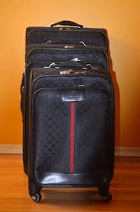 Brand New Gucci 3 Piece Luggage Set