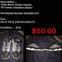 Black, Gray, White Jordan Impact TR Shoes 75 km
