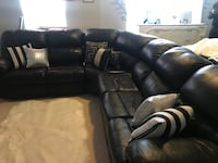 Sectional sofa with recliner and sofa bed. Manassas, 20110