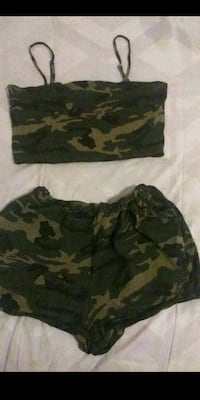 Shein camo top and shorts  National City, 91950