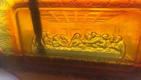 Vintage amber colored glass Last Supper Glass plate Tallahassee, 32301