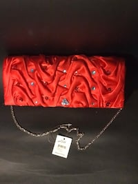 Women's red leather wristlet Lake Elsinore, 92532