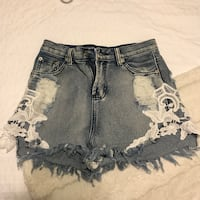Sabo Skirt blue denim shorts DEAL! London, N6H 4X1