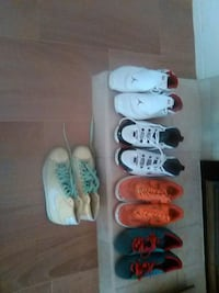 six assorted pair of shoes