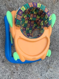 Baby walker baby bouncer orange and blue