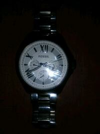 Silver fossil watch Albany, 94706