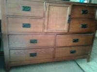 brown wooden 6-drawer lowboy dresser Winnipeg, R3L 2C3