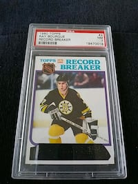 1980 TOPPS RAY BOURQUE HOCKEY CARD GRADED 7 Pickering, L1V 3V7