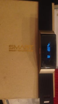 black and silver smartwatch with box Edmonton, T5L 0X2