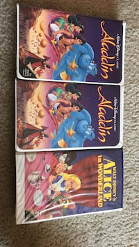 Aladdin and Alice in wonderlands VHS collections Moriarty, 87035