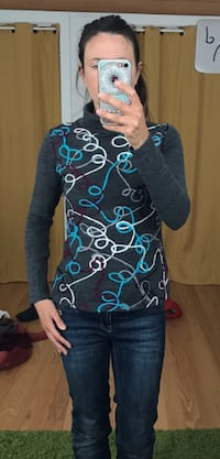 unique women's sweater with pattern XS/S