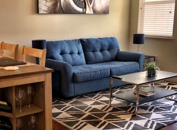 Blue Sofa 2 piece (2nd sofa not pictured. In bedroom)