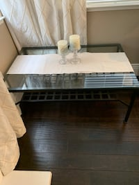 Family room tables. Main and side glass tables selling together!